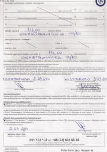Dowód zawarcia obowiązkowego ubezpieczenia tylnia strona